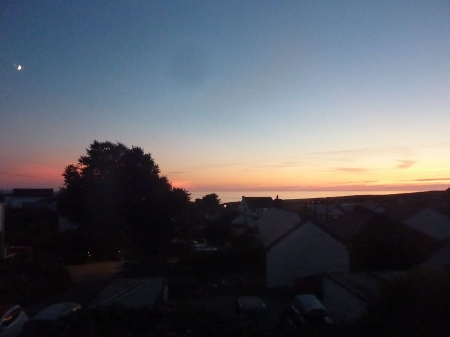 The view from the house at sunset...