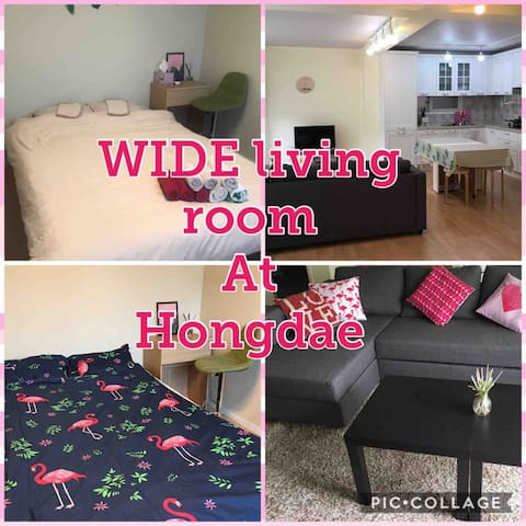 Wide living&1bed room 1 floor all rental Hongdae