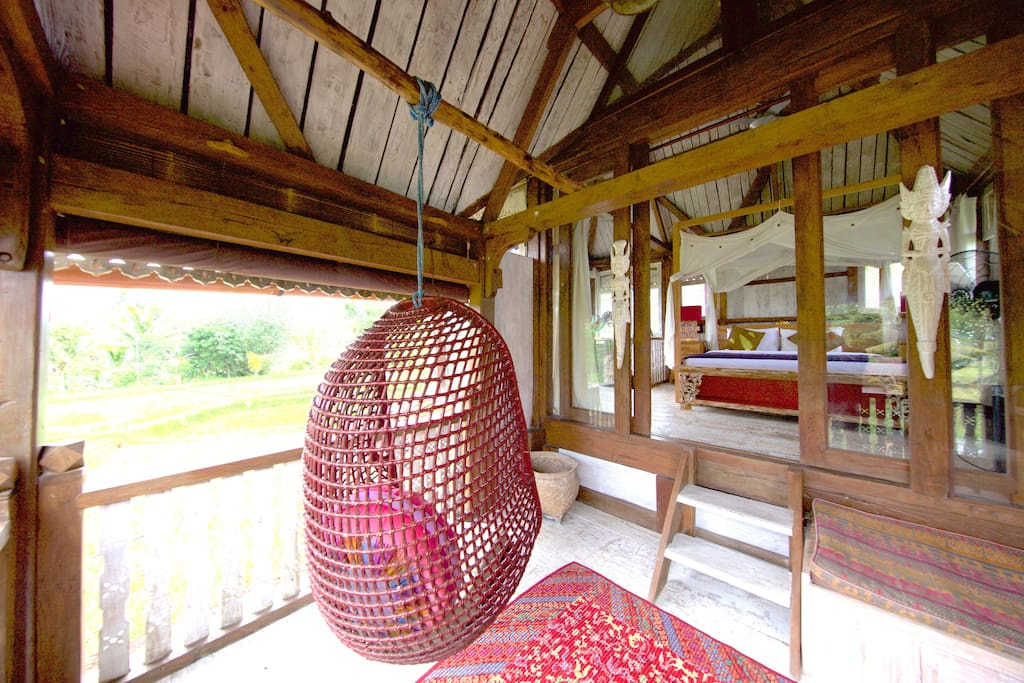 Relax on the Master Suite balcony and survey the rice fields all the way to Sanur!
