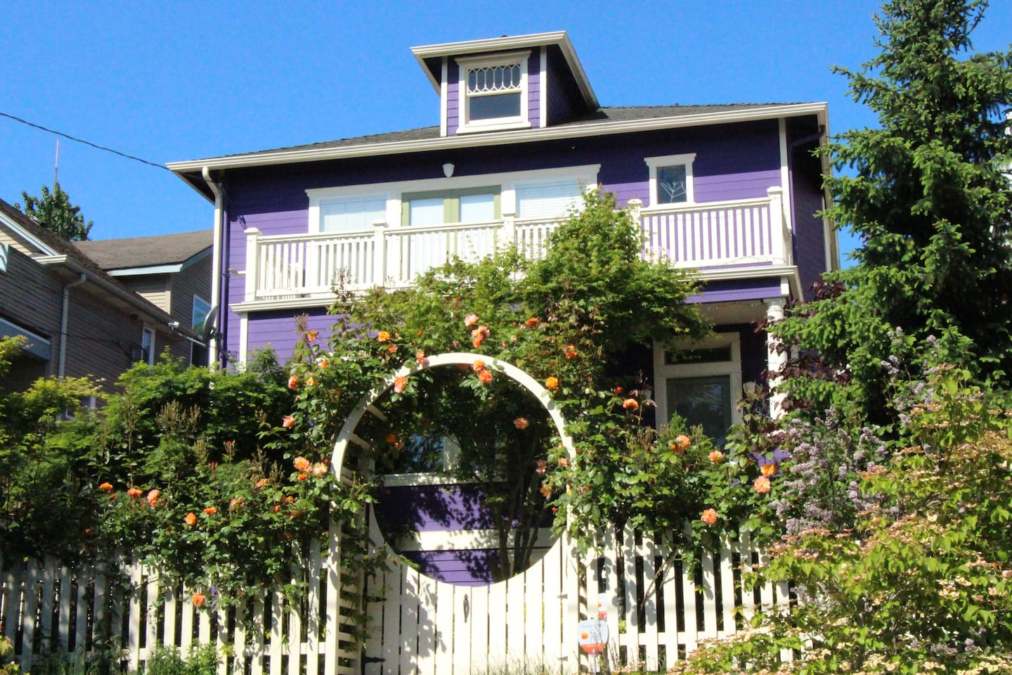 The Purple House front facade