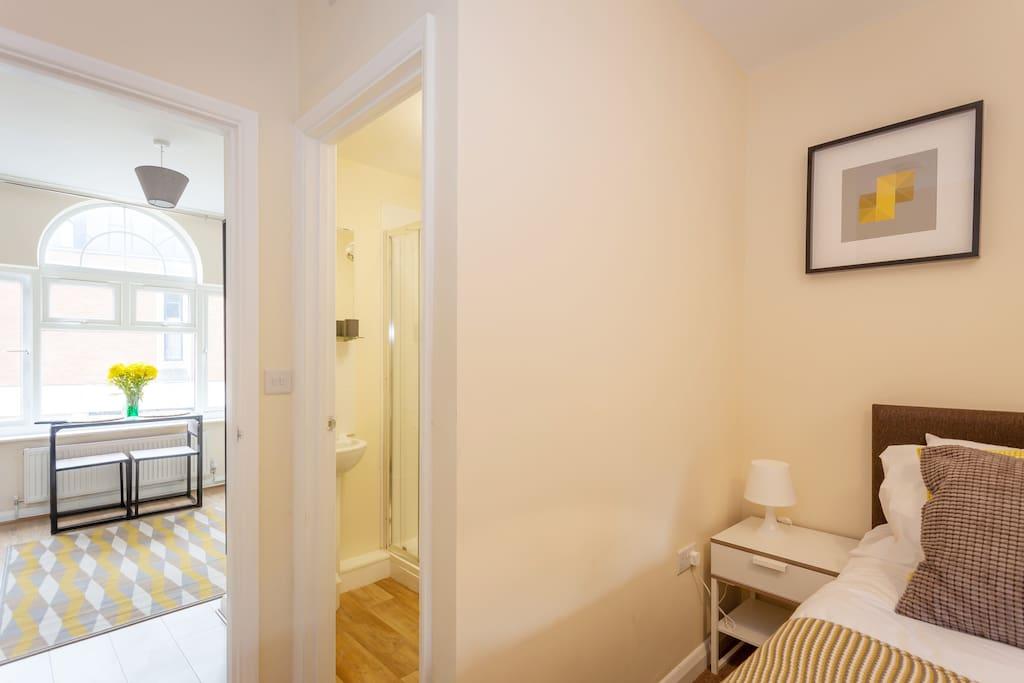 Bedroom, Bathroom, Living Area
