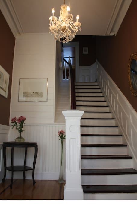 separate entrance to second floor of large heritage home