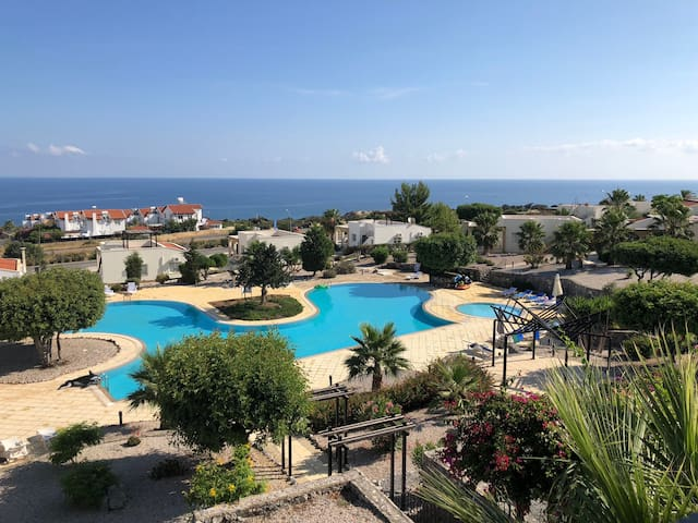 Lovely apartment with great views and shared pool