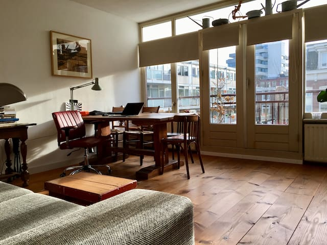 Sunny apartment near the Amstel river