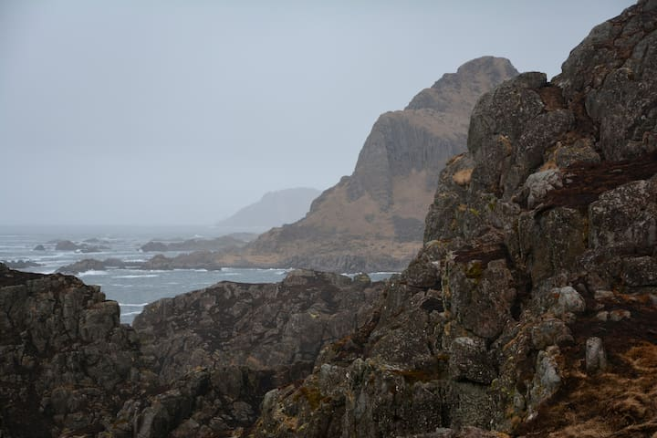 View from a walk around the island on a grey day.