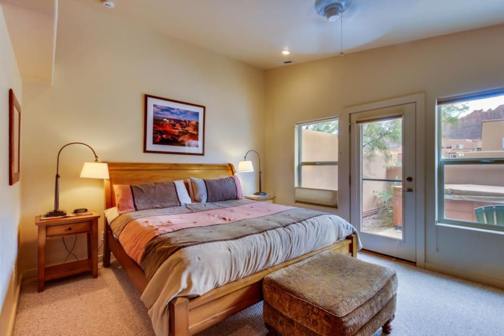Master bedroom with King/access to patio