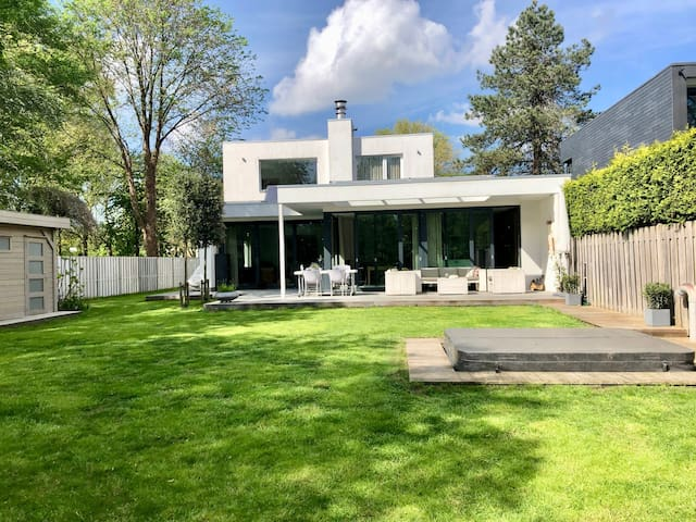 Ibiza style villa in Amsterdam City at waterfront