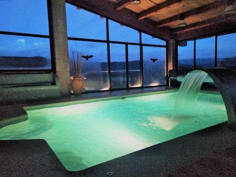 獨特的度假勝地,全天然溫水泳池