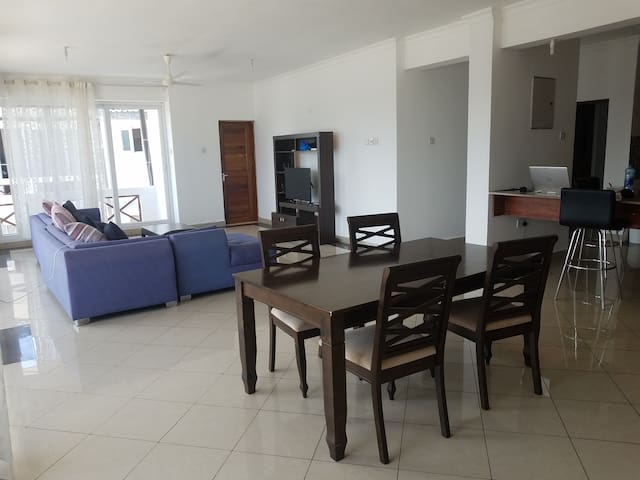 Lovely beach front apartment with a room to rent.