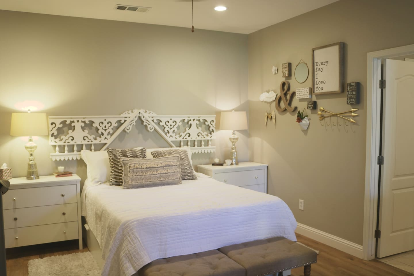 Queen Bed in Master Suite. A perfect place to rest your head at the end of the day!