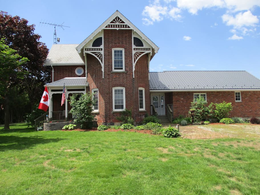 Front view of our century farmhouse with attached granny flat