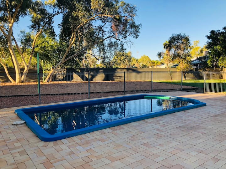 Red centre two bedroom unit with pool