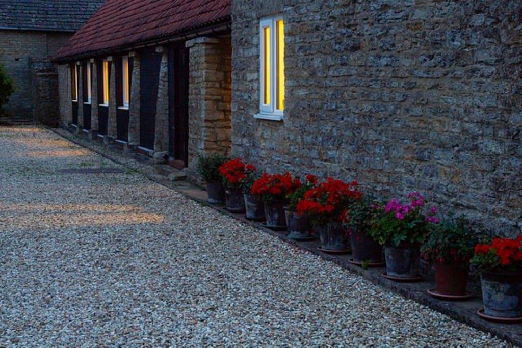 Quiet courtyard setting
