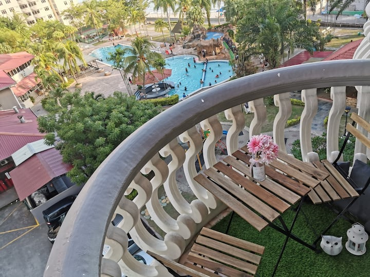 Port Dickson 7pax 2BR Glory Beach Resort Seaview