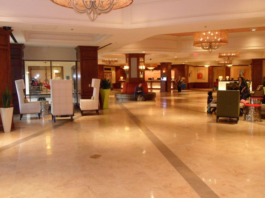Grand Chateau's First Floor Lobby