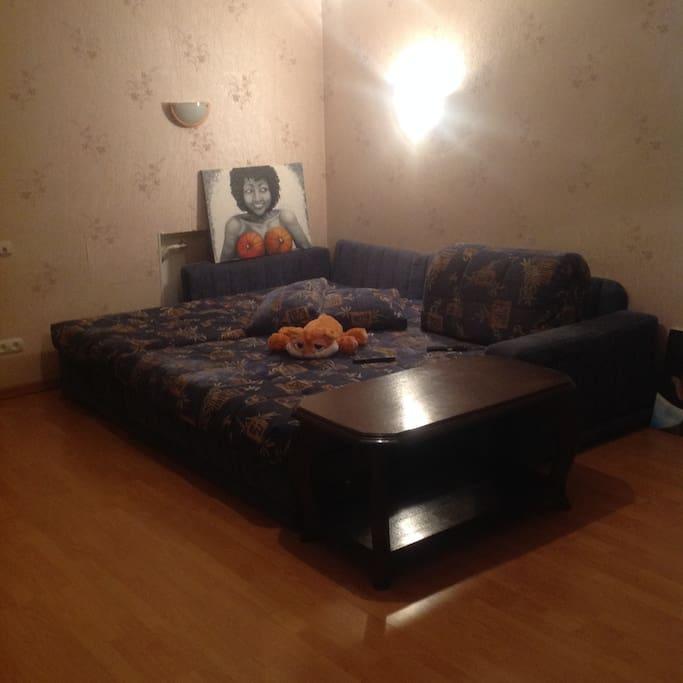Большой, мягкий, удобный диван