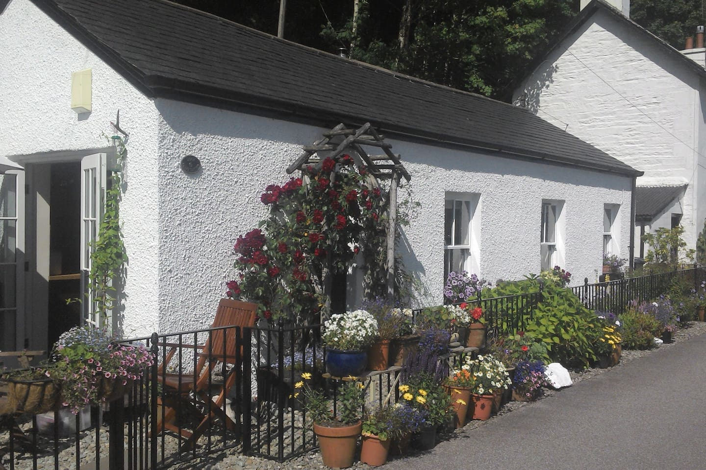 The Cottage and garden in summer