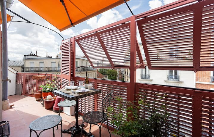 Charming flat with terrace in next to the Sacré Coeur