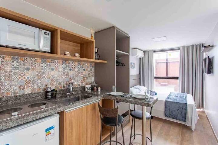 Apartamento 02- Suíte Completa - próx.ao aero e shopping.