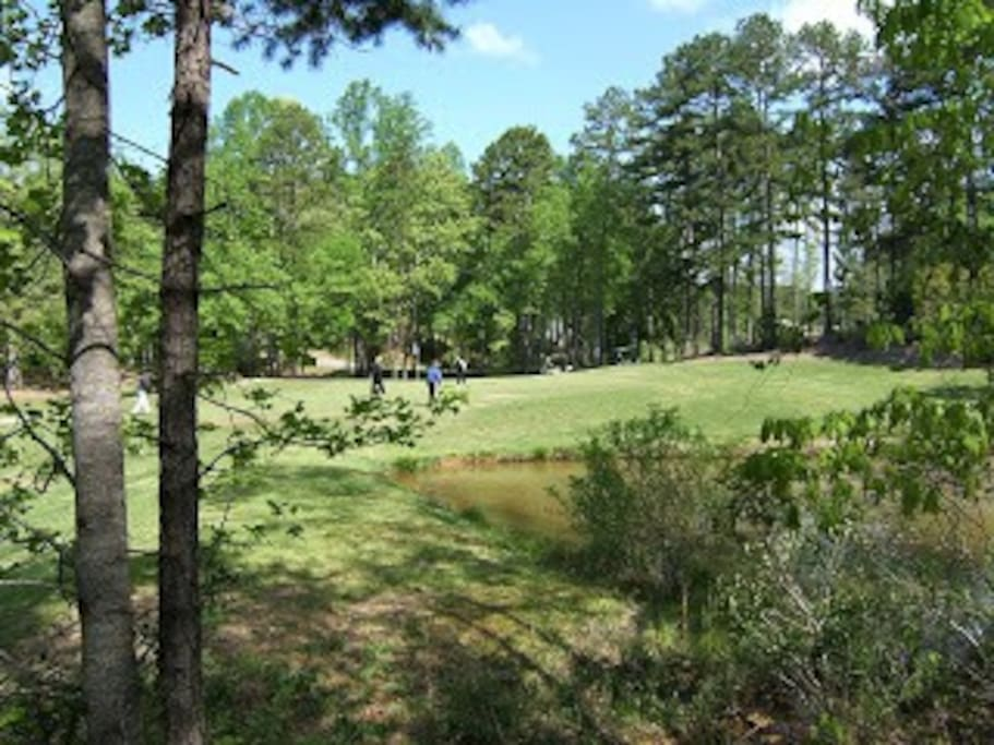 View of hole # 6 on the golf course from back deck of the home.