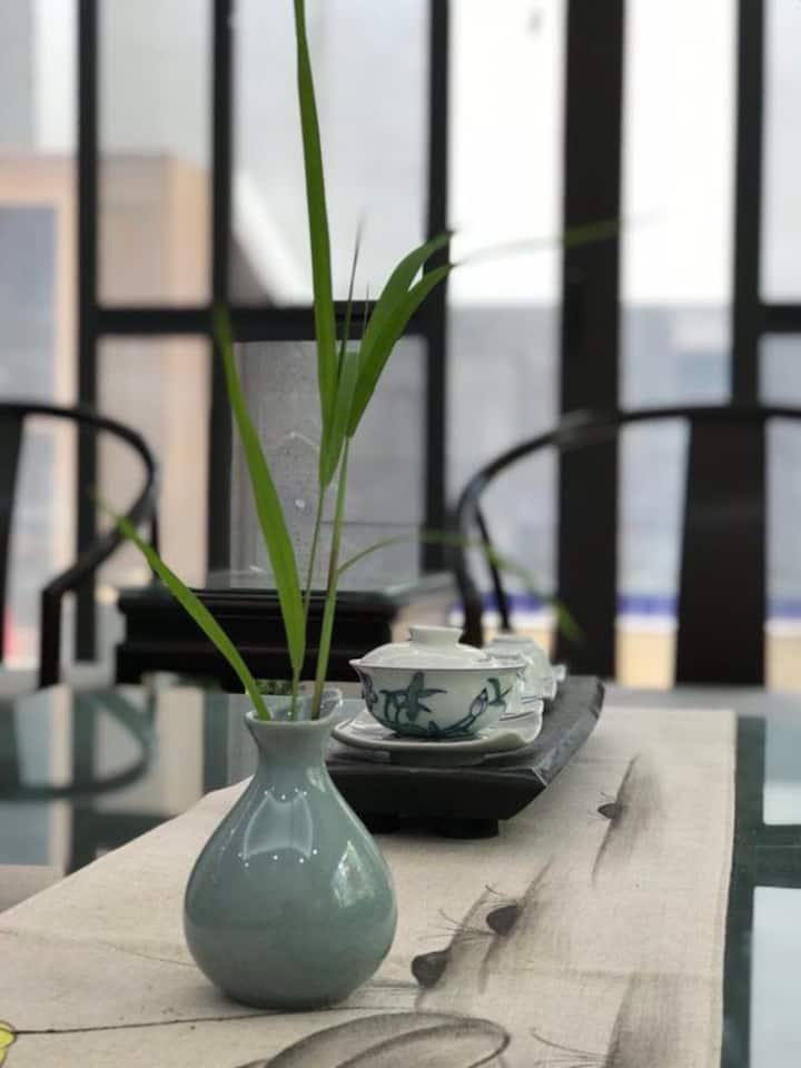 【静·听风起】新中式清雅小别墅,独享依山傍湖的幽静与清新,离都市不远,与自然亲近。