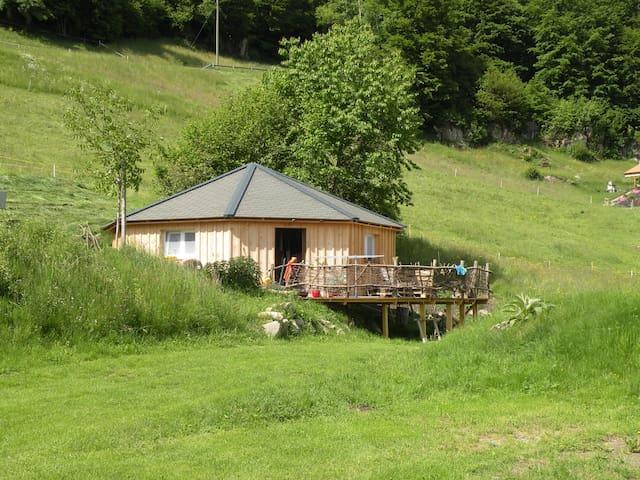 Holz Jurte, Camping Wang