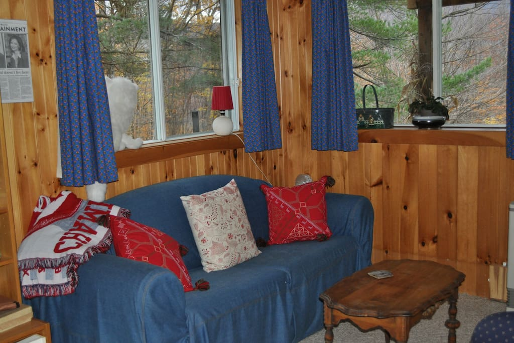 small living room as you enter the chalet