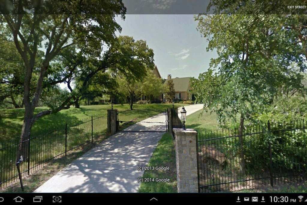 This is what our home looks like from the street.  It has a private gate.