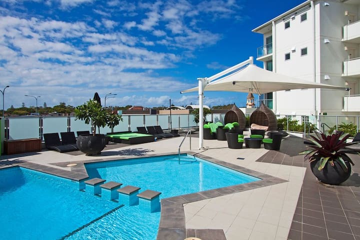 #RAMADA #TOP FLOOR APT #overlooking  pool and town