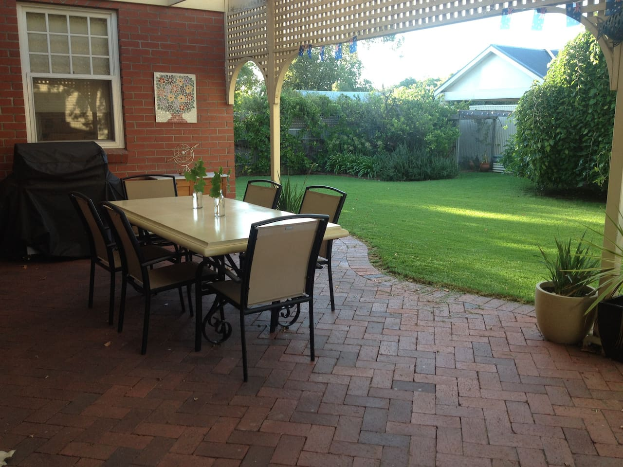 Relaxed outdoor areas