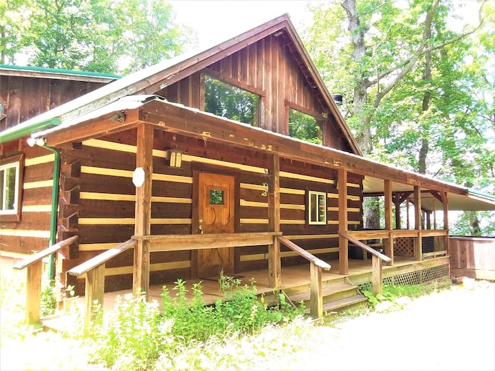 """""""The Tree House Log Cabin"""" Cherokee Nation Forest"""