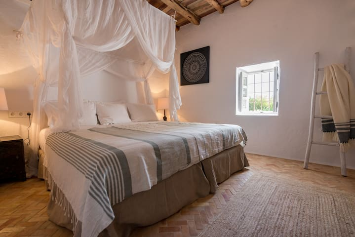 The double room upstairs in the casita