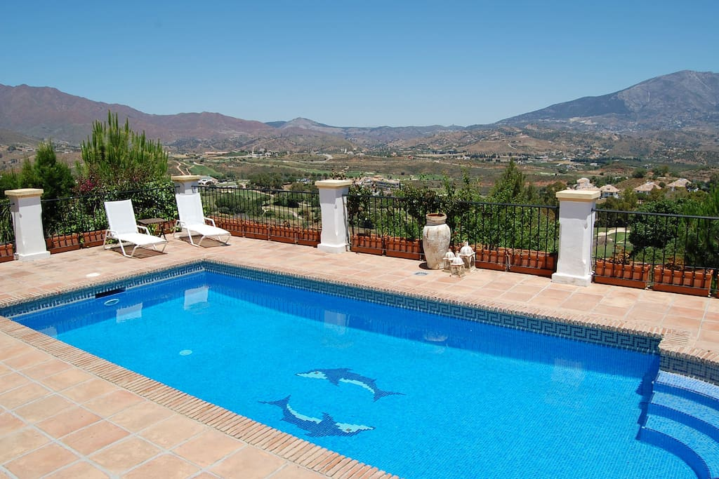 enjoy the tranquility and view from our pool