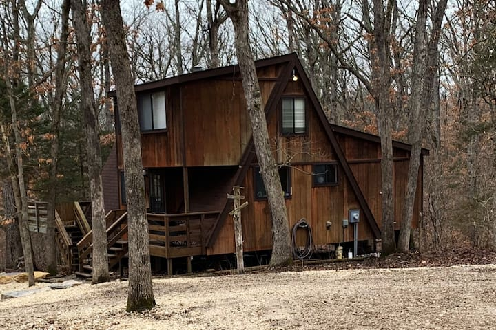 Tucked away in the woods on 3 acres.