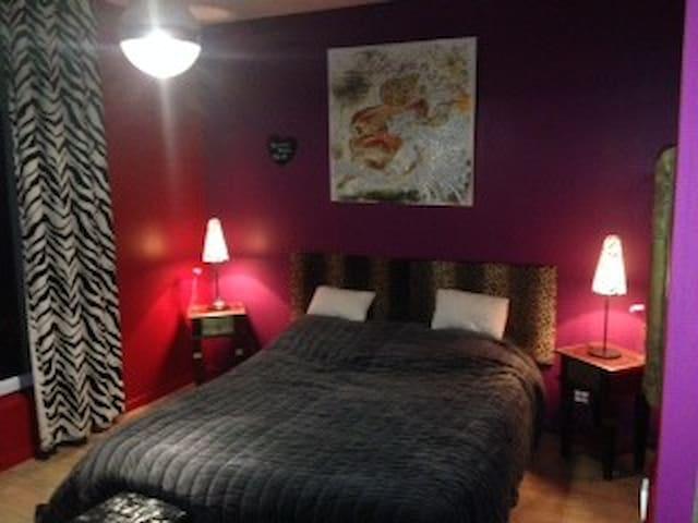 jolie chambre dans maison de maitre - Saint-Martin-du-Tertre - House