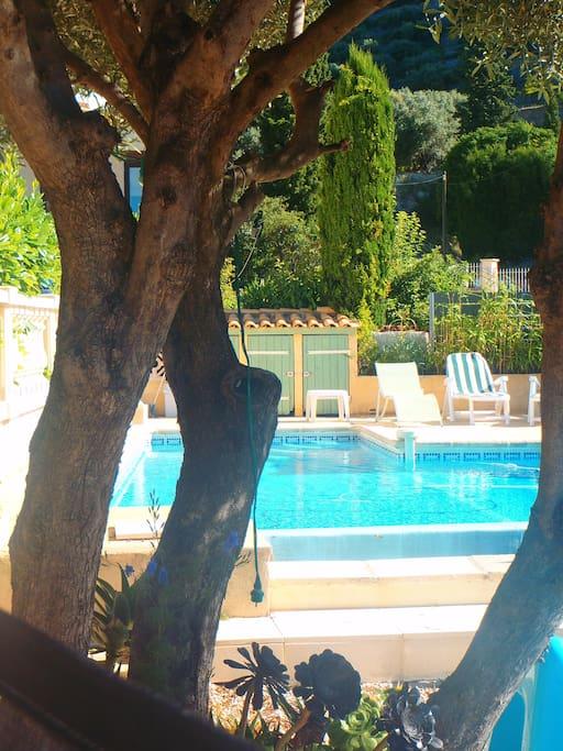 T2 villa vue mer piscine parking maisons louer toulon provence alpes c te d 39 azur france - Piscine debordement mer toulon ...