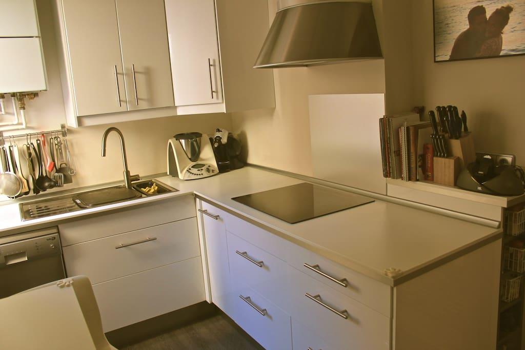 Esta es la cocina compartida.