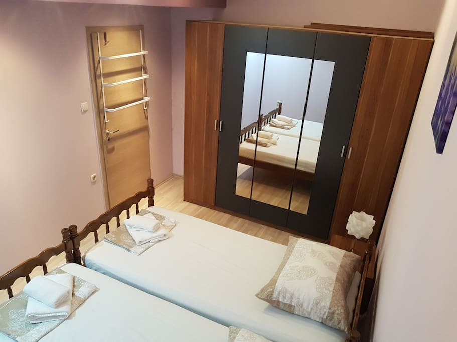 Main bedroom with a  two beds, you can use it as a double bed.