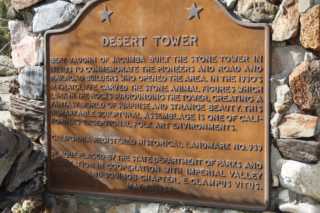 Historical Plaque of  the Boulder Park