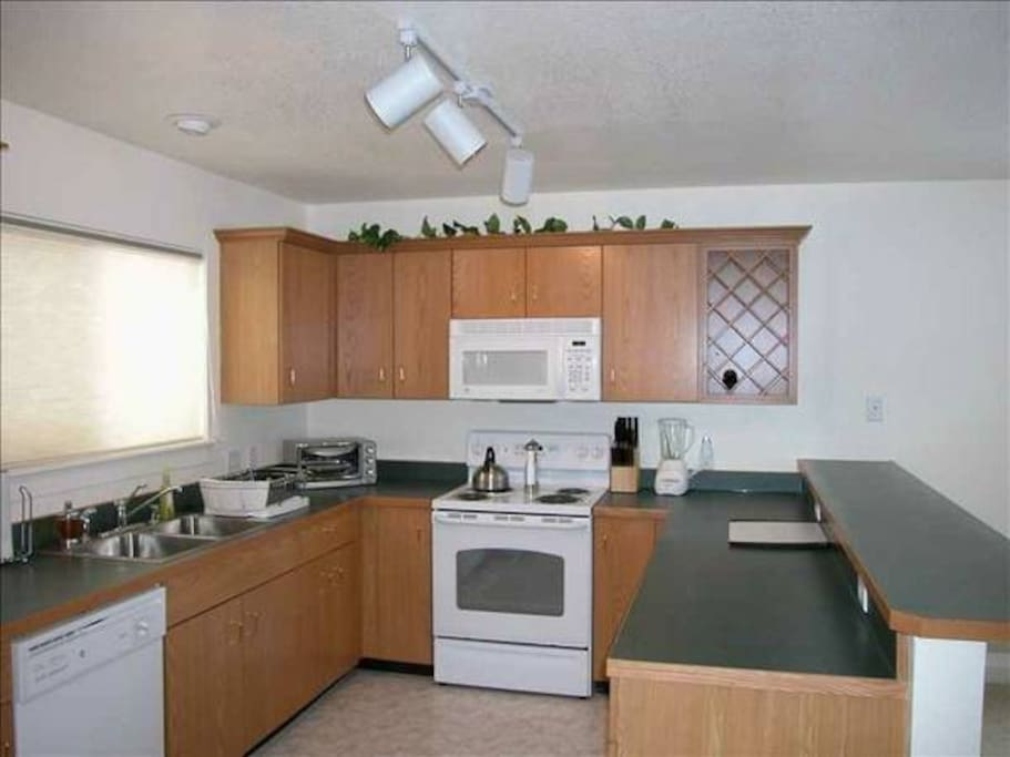 Spacious Kitchen with the amenities