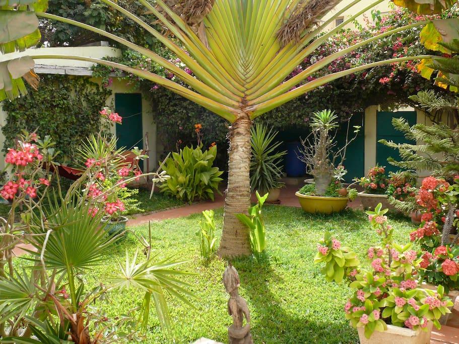 Studio meubl dans jardin dakar flats for rent in dakar for Meuble au senegal