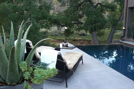 Zion Riverside Infinity edge pool - springdale - House