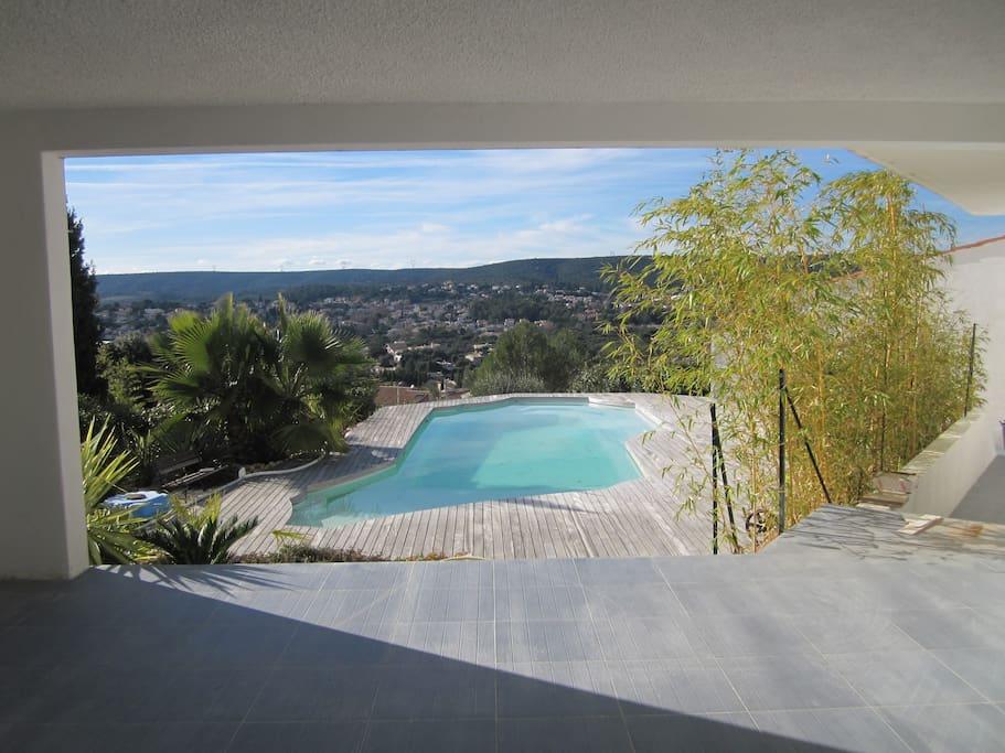 jardin , piscine