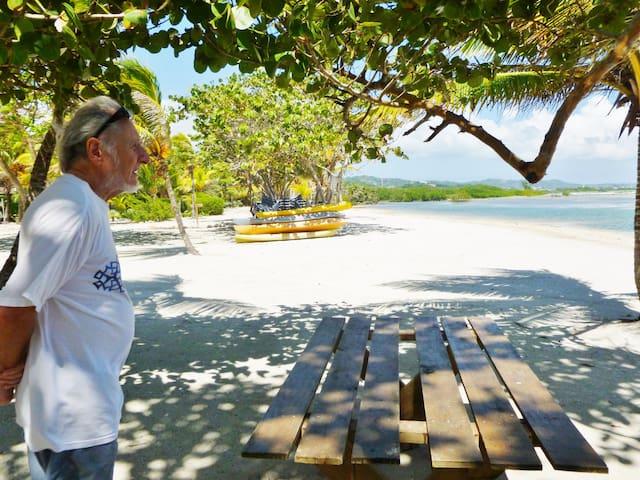 Owner overlooking beach area.