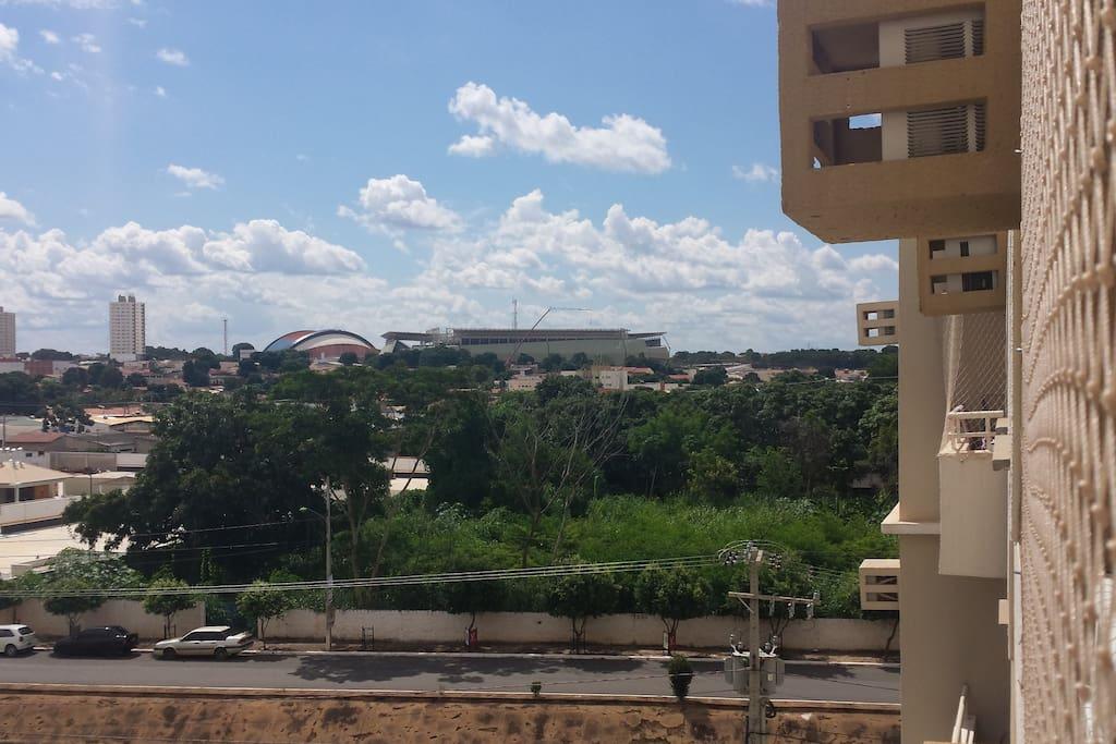 Vista da sacada para Arena Pantanal
