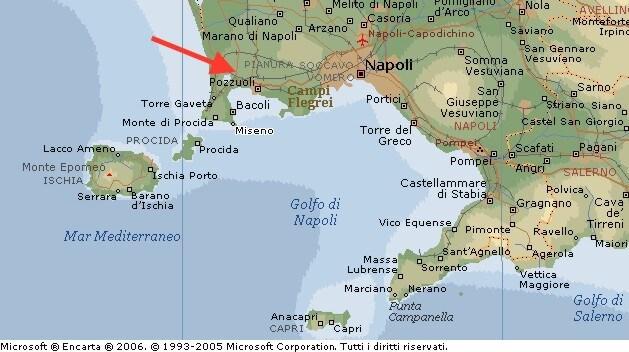Large detailed map of pozzuoli
