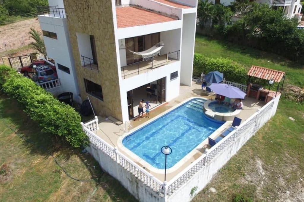 espectacular casa vacacional con piscina privada casas