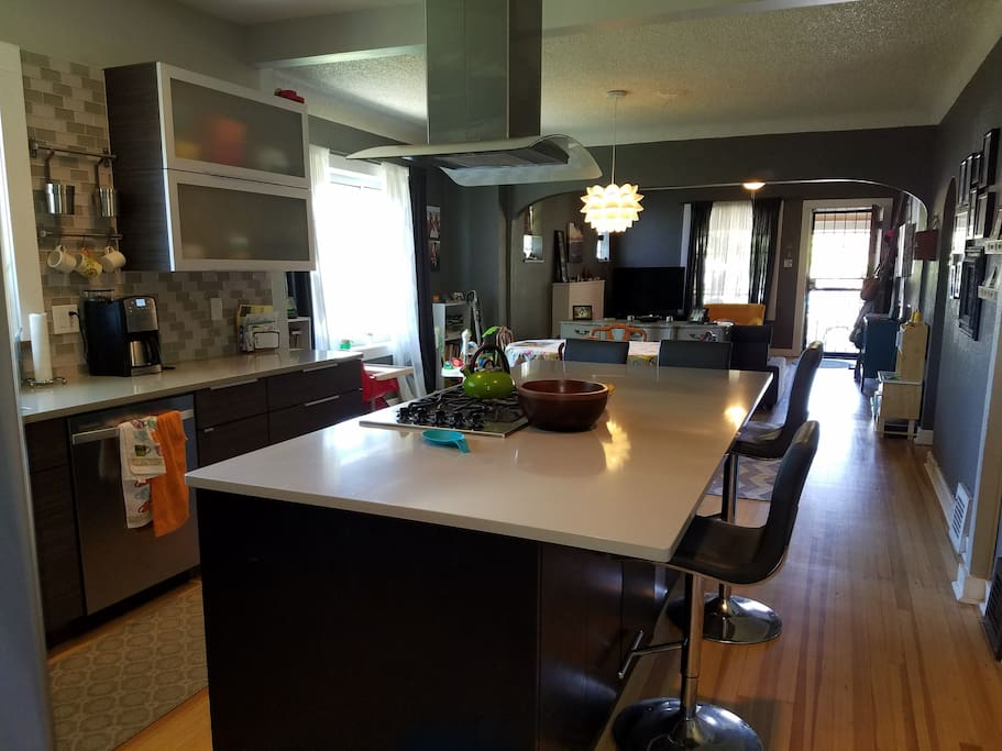 Open concept from kitchen