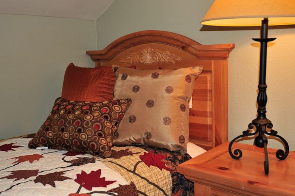 Detail of bed in loft bedroom #3