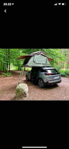 Tent on a car roof